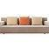 Luxurious sofa isolated on white background